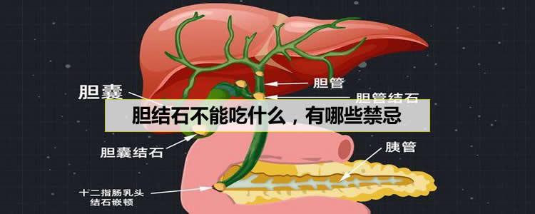 胆结石不能吃什么,有哪些禁忌